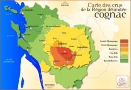 Carte des crus Cognac