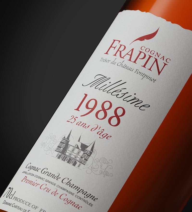 1988 en bouche cognac Frapin