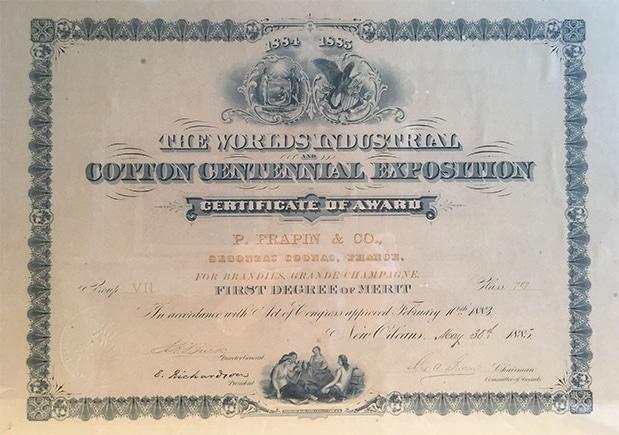 histoire 1885 cognac Frapin