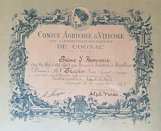 histoire 1898 cognac Frapin